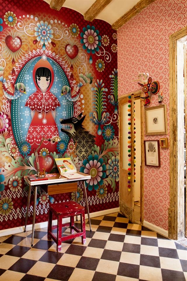 6_Catalina_Estrada ethnic wallpaper interior design etniczne wnetrza styl boho