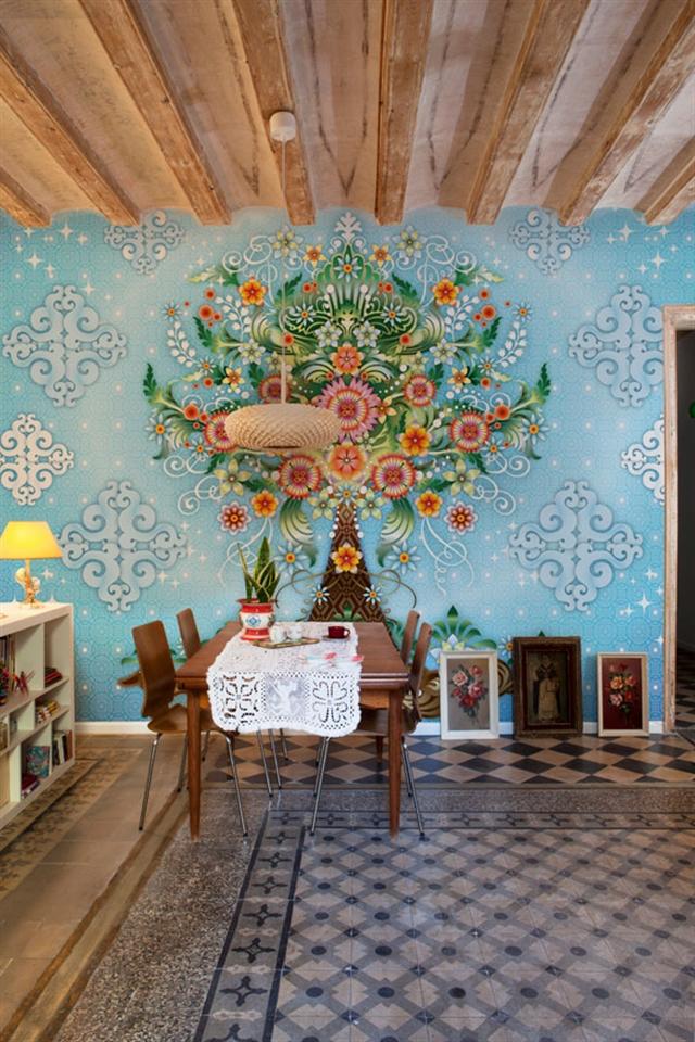 7_Catalina_Estrada ethnic wallpaper interior design etniczne wnetrza styl boho