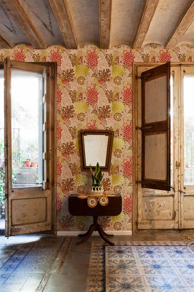 8_Catalina_Estrada ethnic wallpaper interior design etniczne wnetrza styl boho