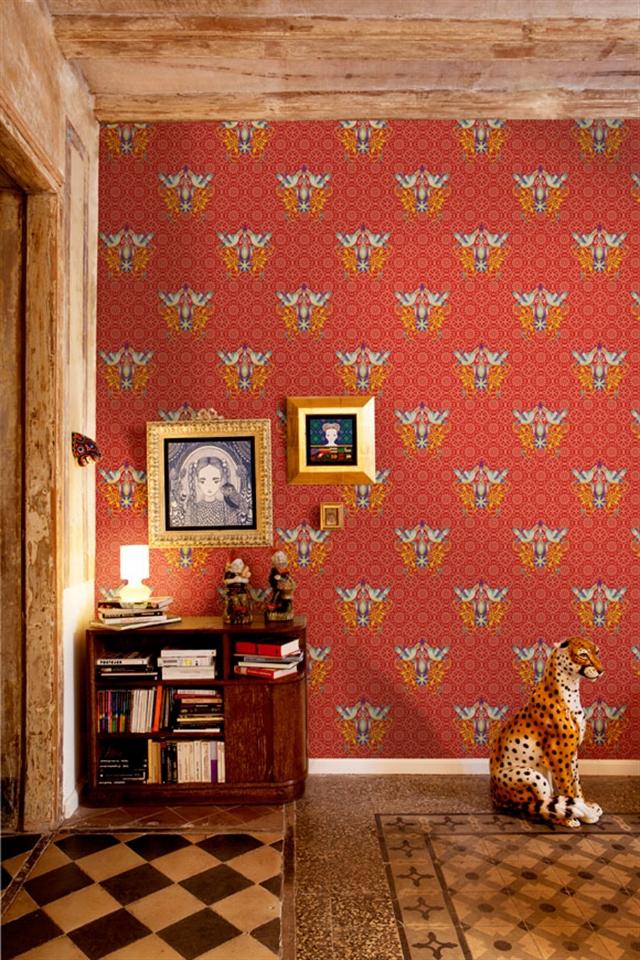 9_Catalina_Estrada ethnic wallpaper interior design etniczne wnetrza styl boho