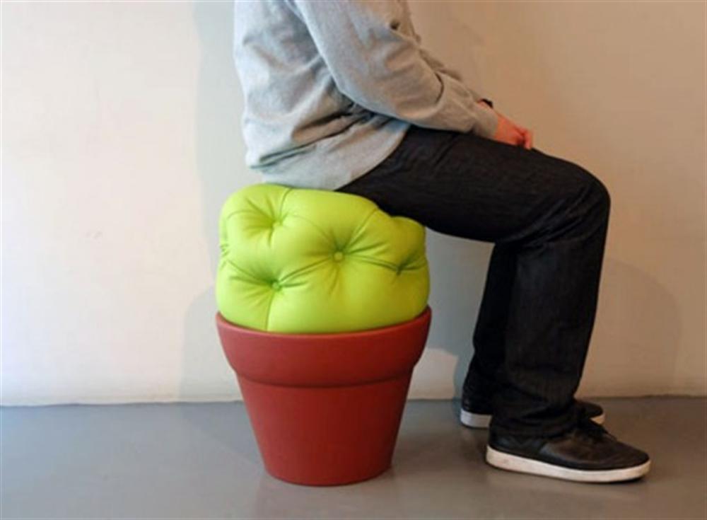 11 cactus pouf cactus inspired furniture design meble insirowane natura interior design home decor ideas pomysly do mieszkania rosliny