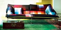 5 Volant sofa Patricia Urquiola Zuzunaga fabric Moroso Kvadrat pixel art pixelated pattern wzor w piksele interior design home decor ideas urzadzanie mieszkania projektowanie wnetrz kolory w domu