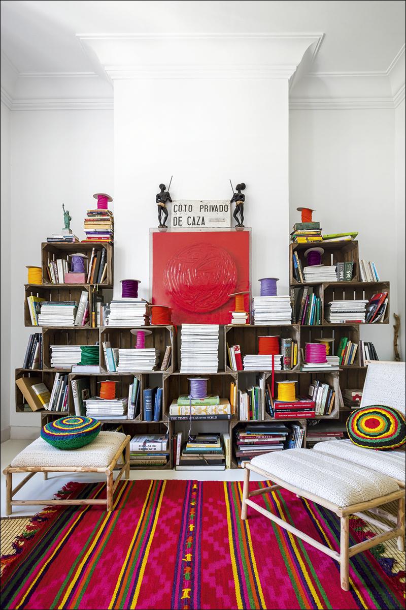 8 casa_de_luis_galliussi_en_madrid_ad spain interior design home decor ideas vintage boho style kolorowe mieszkanie styl vintage wnetrza