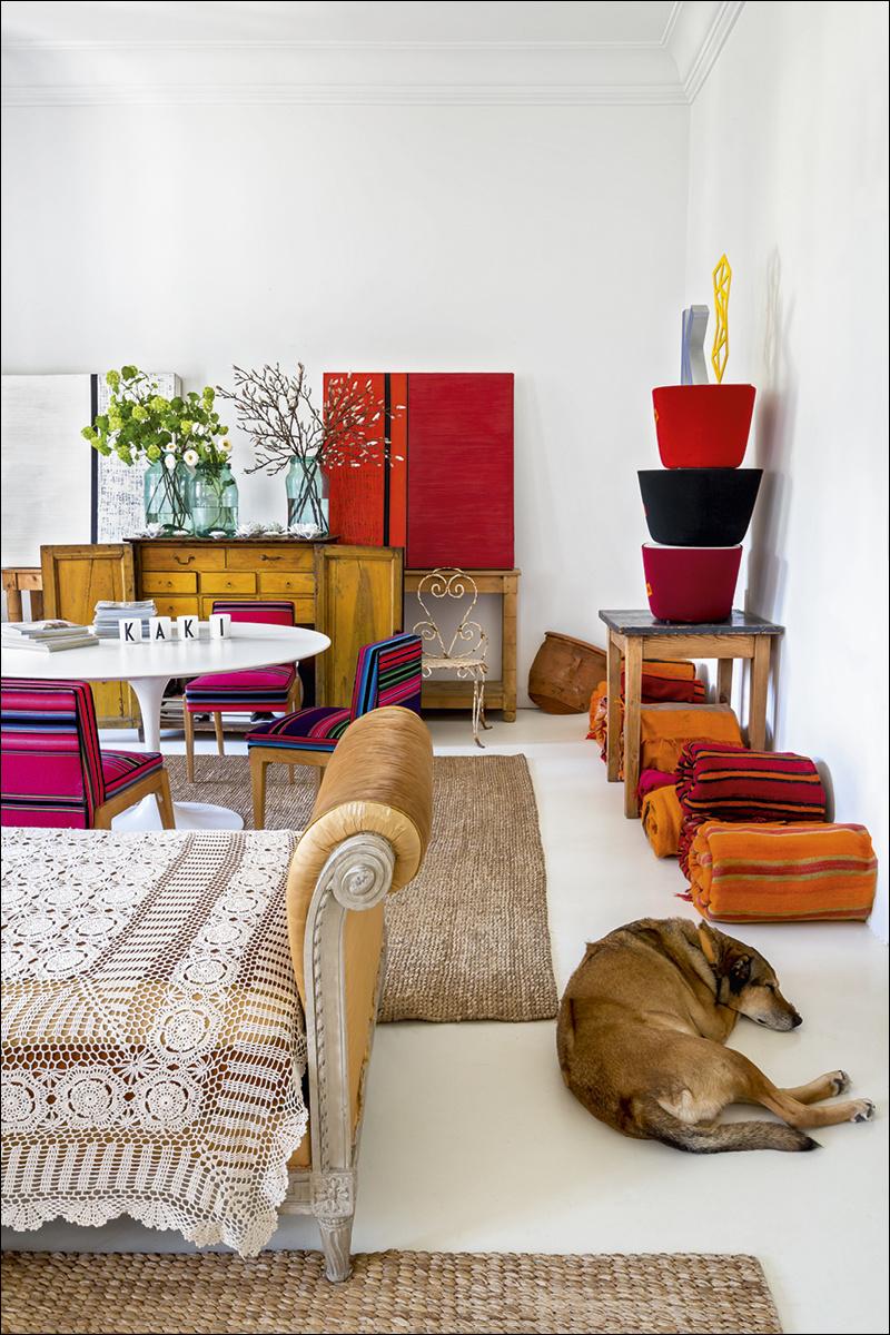 9 casa_de_luis_galliussi_en_madrid_ad spain interior design home decor ideas vintage boho style kolorowe mieszkanie styl vintage wnetrza