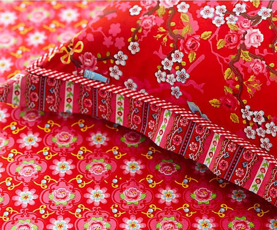 16 Prześcieradło Blossom Rose PIP Studio bedsheet bedroom interior design kolorowe wnetrza holedenrski design westwing forelements blog