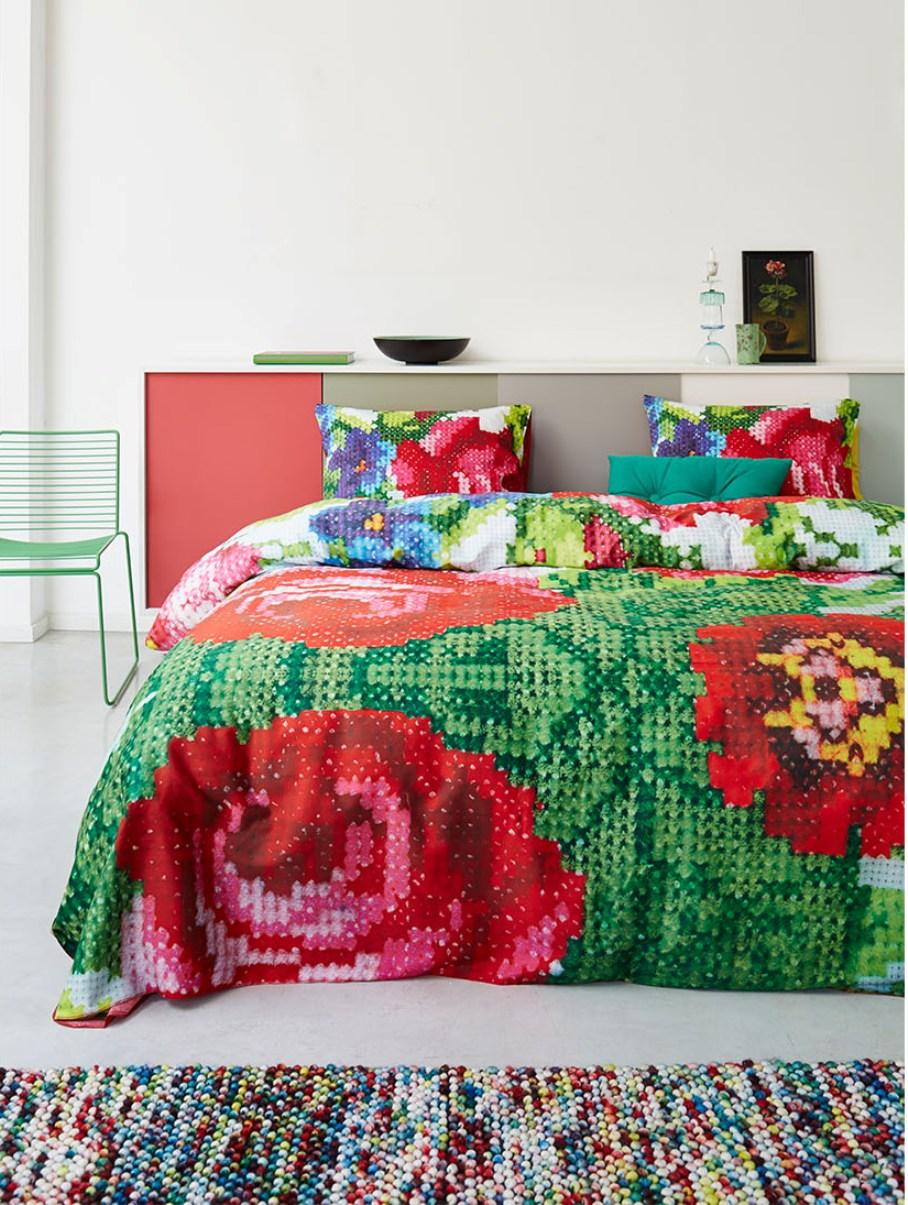 2 Pościel Nika Essenza bedsheet bedroom interior design kolorowe wnetrza holenderski design PIP Studio westwing forelements blog