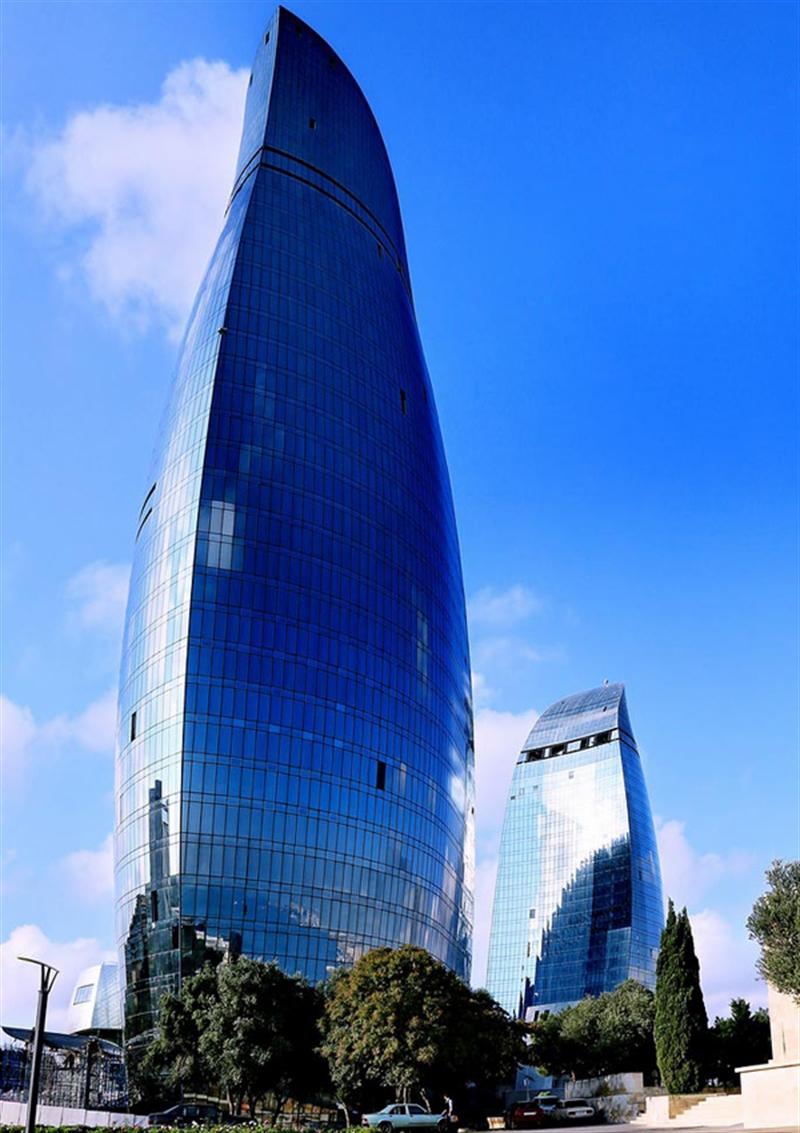 4b flame towers baku azerbaijan extreme architecture modern building innovative venues nowoczesna architektura odwazne projekty