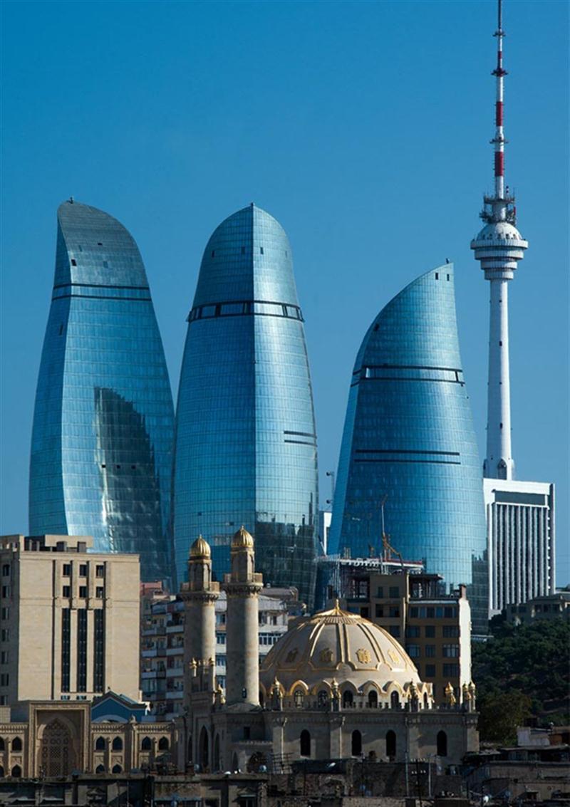 5 flame towers baku azerbaijan extreme architecture modern building innovative venues nowoczesna architektura odwazne projekty