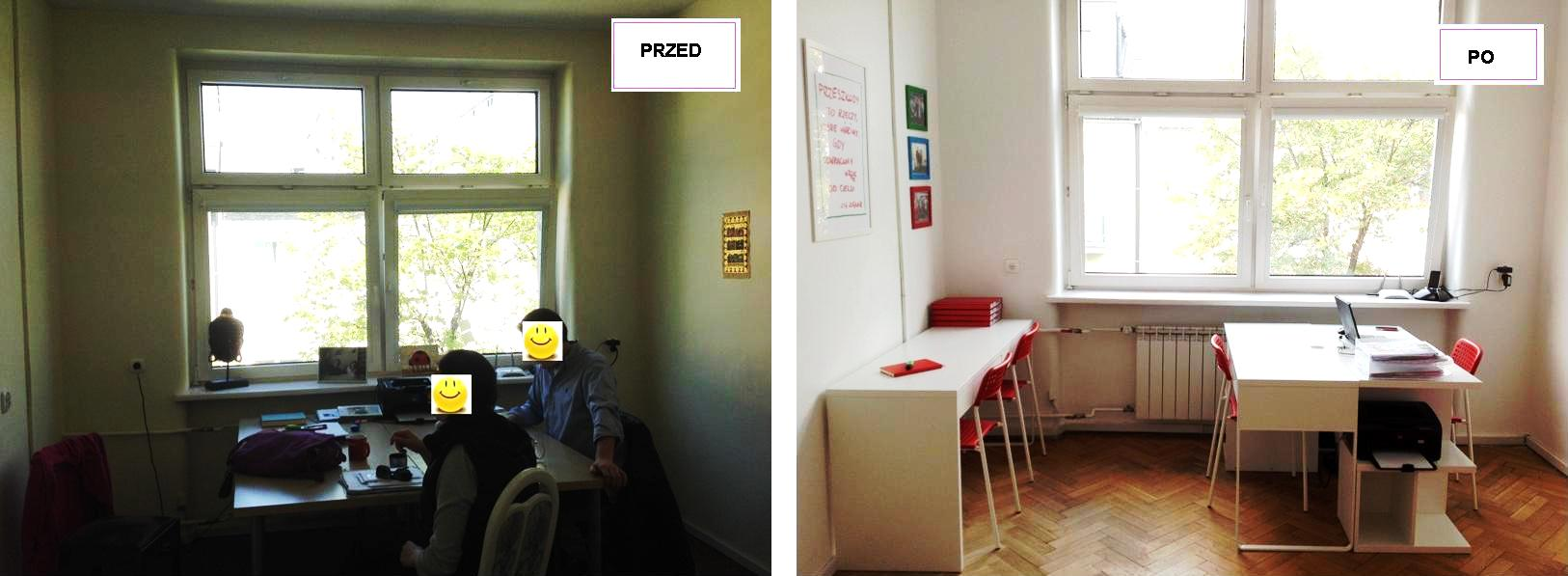 4 projekt wnetrza male kolorowe biuro interior design small colorful office google style forelementspl