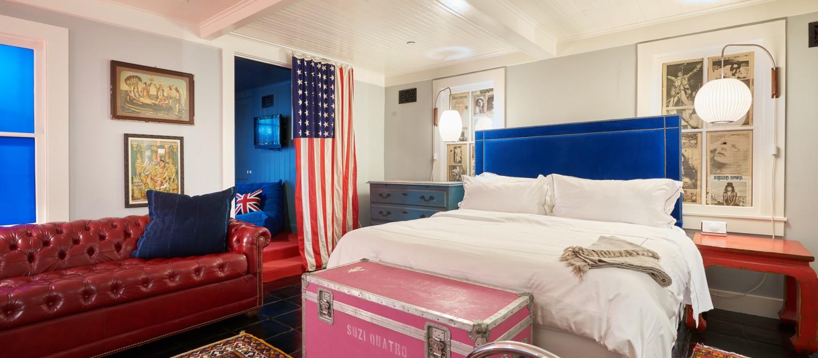 5 suite 5 Hotel Saint Cecilia Austin Texas interior design vintage apartment ciekawe wnetrza hotelowe styl amerykanski