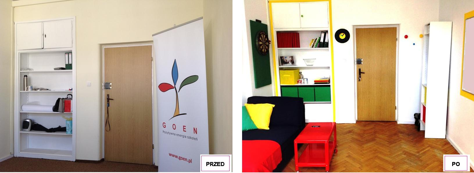 7 projekt wnetrza male kolorowe biuro interior design small colorful office google style forelementspl