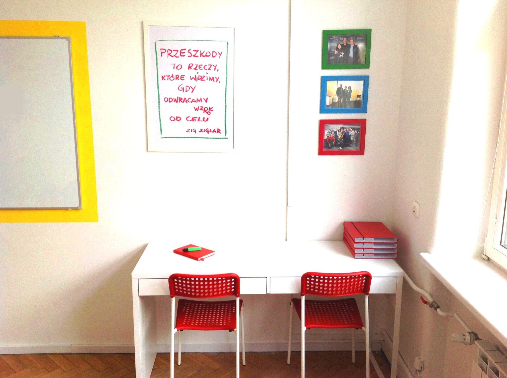 9 projekt wnetrza male kolorowe biuro interior design small colorful office google style forelementspl