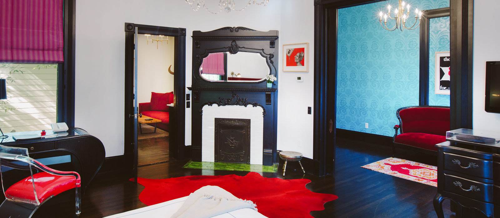 9 suite 1 Hotel Saint Cecilia Austin Texas interior design vintage apartment ciekawe wnetrza hotelowe styl amerykanski