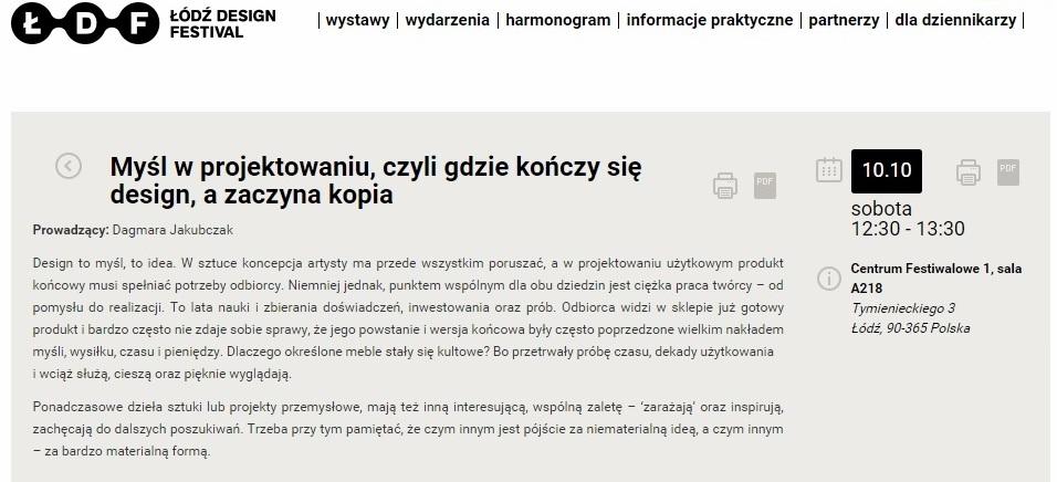 wyklad festiwal designu projektowanie polscy projektanci forelements blog
