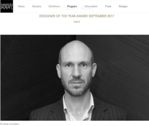28a Maison et Objet Designer of the Year Tristan Auer forelements blog