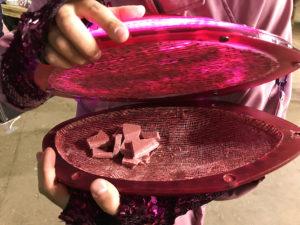 2 salon du chocolat ruby barry callebaut rozowa czekolada pokaz mody z czekolady forelements blog