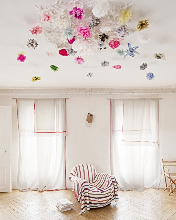 spring interior plaster of paris floral decoratiotion white interior marie claire maison