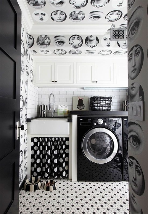 10 black and white polka dots home decoration interior design spotted ideas kropki we wnetrzu bialo czarne groszki w domu kuchnia w kropki spotted kitchen