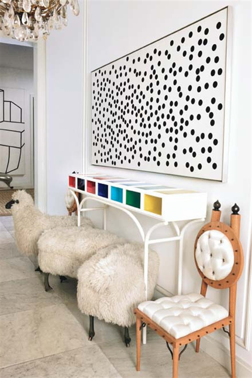 3 black and white polka dots home decoration interior design spotted ideas kropki we wnetrzu bialo czarne groszki w domu pokoj w kropki spotted living room