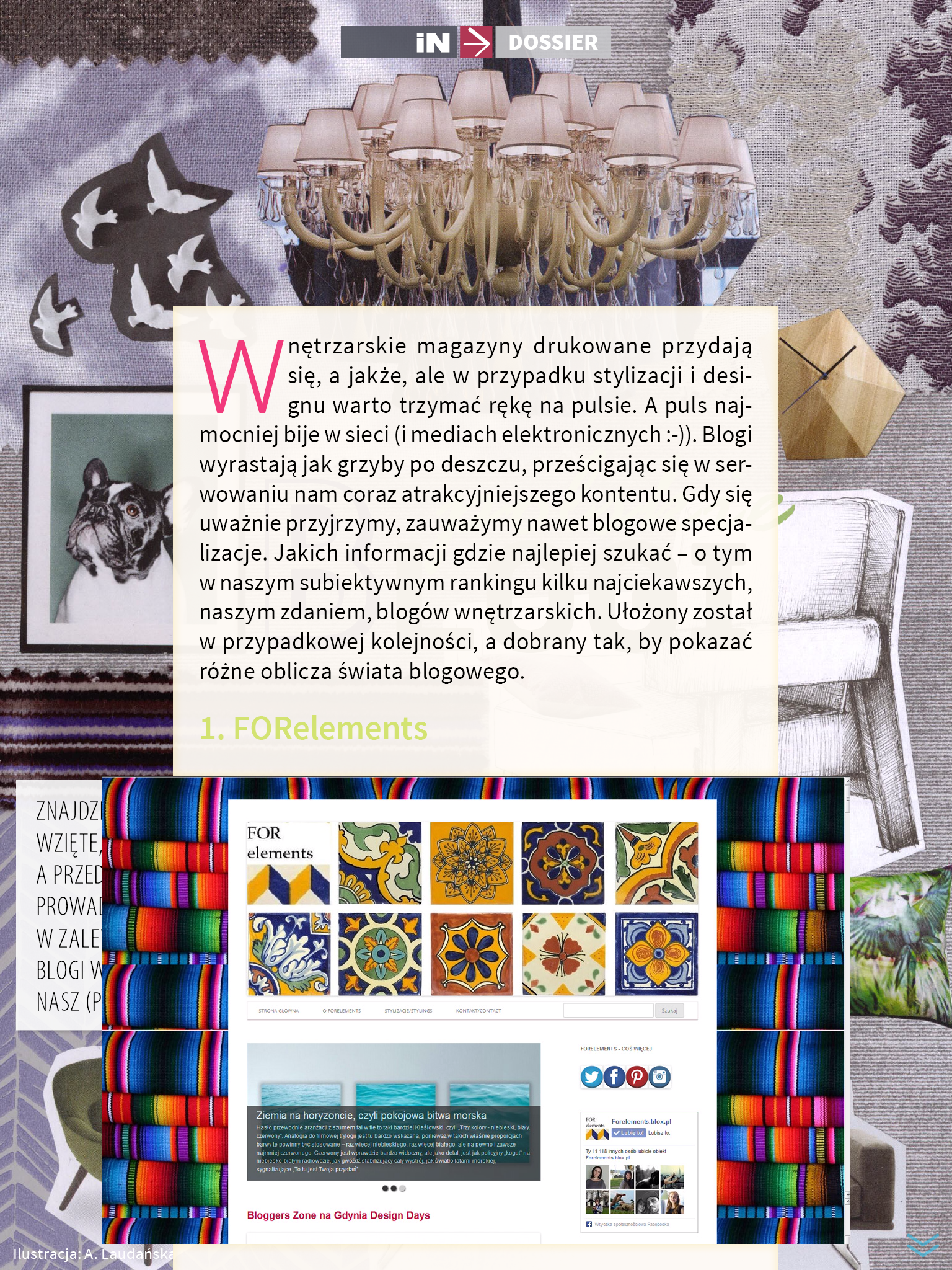 3 iN Magazyn 7-8 najciekawsze najlepsze blogi wnetrzarskie o projektowaniu wnetrz o designie the best most interesting blogs on interiors and design