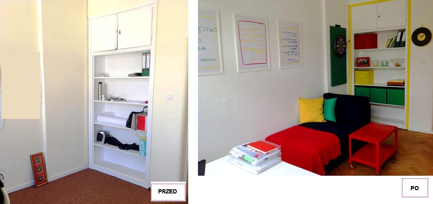 6 projekt wnetrza male kolorowe biuro interior design small colorful office google style forelementspl