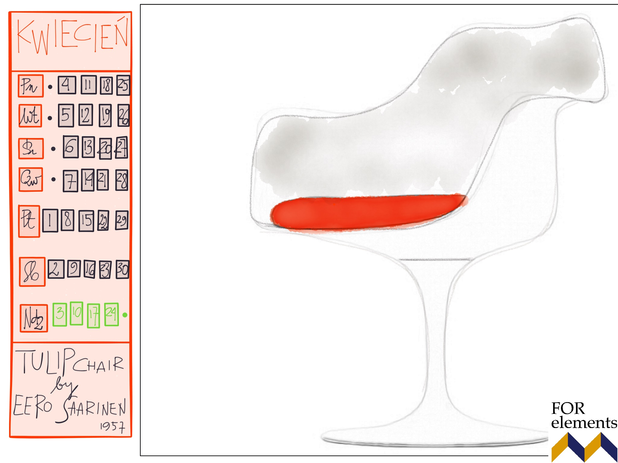 4 tulip_chair_eero_saarinen_knoll_calendar_2016_design_icons_furniture_interior_ideas_home_decorationg_forelements_blog