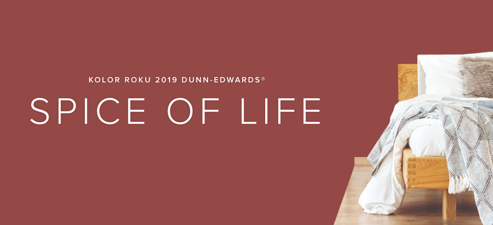 1 dunn edwards kolory roku 2019 spiced of life design forelements blog